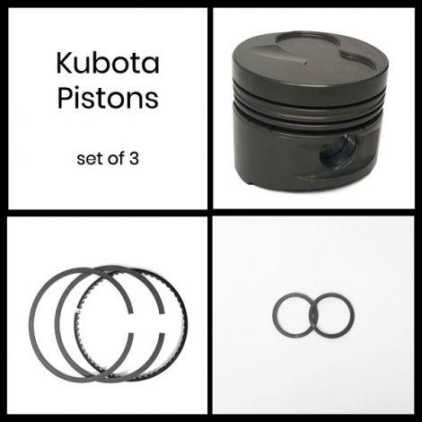 Kubota Pistons 3.070 X 1.437