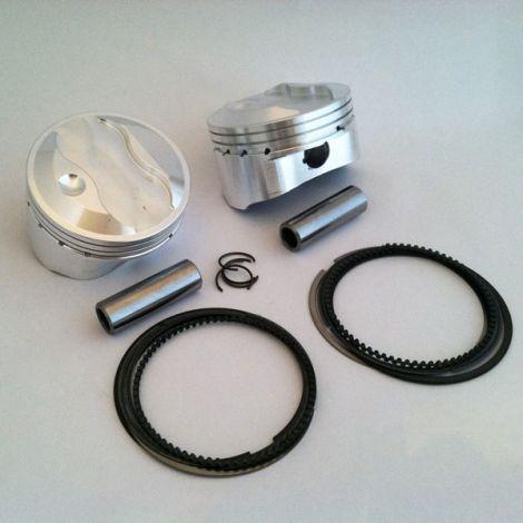 V-Twin 3.270 x 1.025 Hi-Compression Dome Piston Assembly
