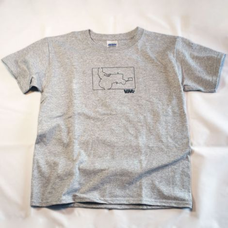 Youth Limited Edition Garden Tractor T-Shirt in Sport Grey
