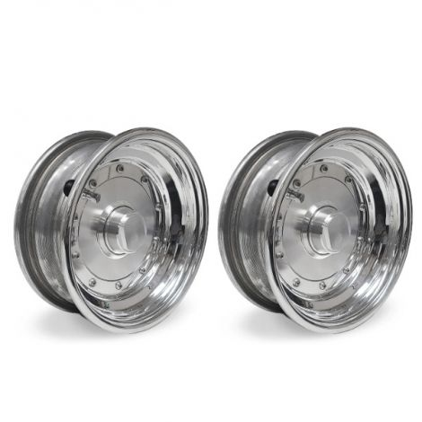 VM Silver Solid 3x8 Front Wheel Kit
